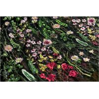 Buy cheap Stretch Multi Colored Floral Heavy Beaded Lace Fabric For Wedding Dress Decoration product