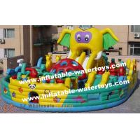 Buy quality CE Certificated Animal Elephant 0.55mm PVC Tarpaulin Inflatable Fun City Amusement Playground for Commercial Use at wholesale prices