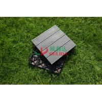 Buy cheap WPC Non Slip Composite Wood Deck Tiles , 100% Recycle Outdoor Interlocking Deck Tiles from wholesalers