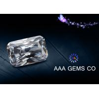 Buy cheap Synthetic Radiant Cut Moissanite Loose Gemstones RI 2.65 - 2.69 from wholesalers