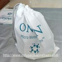 Buy cheap Electronic Product White Drawstring Plastic Bags Scrubbing String Bag product