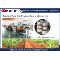 Buy cheap Perennial Crop Drip Irrigation Flat Drip Pipe Manufacturing Machine Low Noise product