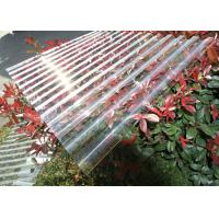 Buy cheap Thick Corrugated Perspex Roofing Sheets / Corrugated Polycarbonate Roof Panel product