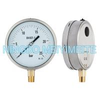 Buy cheap Shrink Stainless Steel Ring Pressure Gauge Hydraulic With Blow Out Disc Sealing Type product