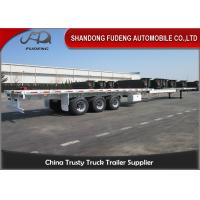 Buy cheap Over Length Flatbed Extendable Semi Trailer Double / Three Steering Axles product