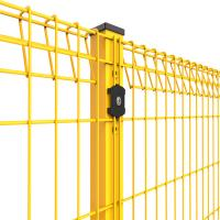 Buy cheap Triangular Bends Powder Coated Welded Wire Mesh Fence In Steel Pallet Packing product