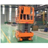 Orange Construction Scissor Lift Scissor Lift Extension Platform Motion Alarm