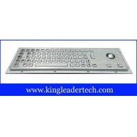 Buy quality 64 keys panel mount rugged metal industrial keyboard with trackball MKB-64A-TB at wholesale prices