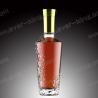 SGS Screw Sealing 750ML Flint Glass Empty Whiskey Bottles for sale