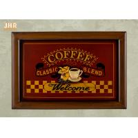 Buy cheap Decorative Wall Plaques Wooden Wall Signs Coffee Shop Wall Decor Antique Home Decorations product