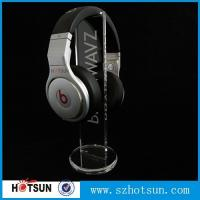 Buy cheap clear round base holder earphone clear acrylic holder for earphone wholesale product
