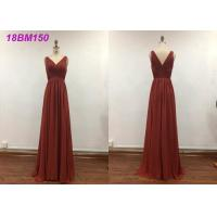 China Pretty A Line Wedding Bridesmaid Dresses With Embroidery Decoration Water Soluble on sale