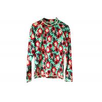 Buy cheap Scuba Womens Rash Guard Shirt Flower Pattern For Diving Surfing Swimming product