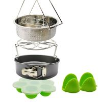 Buy cheap Best Product Wholesale Pot Accessories Set 10 Pcs Silicone Steamer Basket, Egg Rack,Dish Plate Clip, Egg Bites Mold, Oven Mitts product