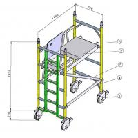 Buy cheap Painting Indoor, Outdoor Anti - Skid Aluminium Mobile Scaffold / Scaffold Towers from wholesalers