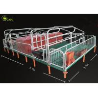 Buy cheap Pig Breeding Equipment Galvanized Pig Limit Pen Elevated Pig Farrowing Crate product