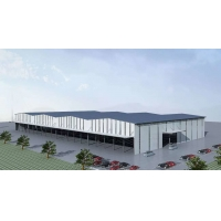 Buy cheap Painting Logistics Building Low Carbon Steel Warehouse With Single Panel product