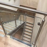 Buy cheap Price Of Modern Stair Stainless Steel Balcony Glass Terrace Railing Design Manufacturer product