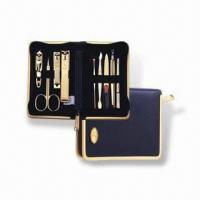 Buy cheap Manicure Set with Butterfly Zipper Pocket, Made of Stainless Steel, OEM Orders are Welcome product