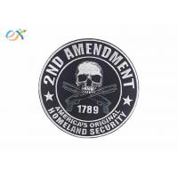 Buy cheap Polyester Background Material Motorcycle Leather Vest Patches Skull Shape product