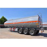 China 3 Axle 45000 Liters Mobile Fuel Semi Tanker Trailer For Oil Transporting on sale