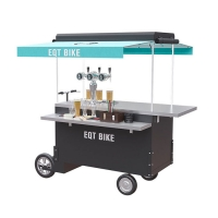 Buy cheap Mobile Street Vending Beer Bicycle Cart Box Structure product