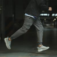 Customized Full Elastic Waist Mens Jogging Bottoms / Pants With Zipped Pockets