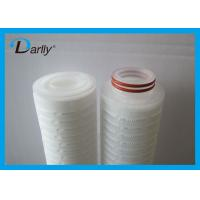 China Disposable Pleated water cartridge micro cartridge filter for water filter on sale