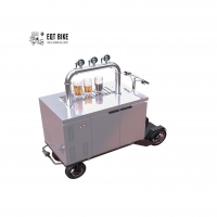 Buy cheap Eye Catching Mall Vending Bicycle Vending Cart For Restaurant product