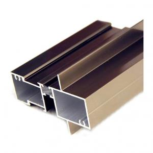 Buy cheap Porcelain Anodized 2.0mm Aluminum Window Profiles Champagne product