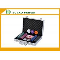 Travel Promotional Poker Chips Sets With Aluminum Case Traveling Manufactures