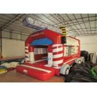 Buy cheap Firetruck Commercial Bounce House Quadruple Stitching  , Inflatable Jumping Castle 5 X 6m product
