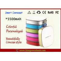 Buy quality Portable 5500mAh Dual USB Power Bank Polyemer Lithium battery at wholesale prices
