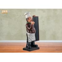 Buy cheap Wooden Menu Boards Polyresin Statue Figurine Poly Resin Floor Chef Sculpture For Restaurant product