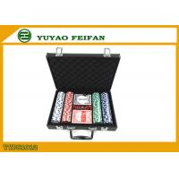 200 Pcs Personalised 11.5 Gram Poker Chip Sets With Leather PU Case Manufactures