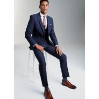 Buy cheap OEM Mens Tuxedo Suits with Two Button Fastening Jackets / Bright Blue 3 Piece Suit product