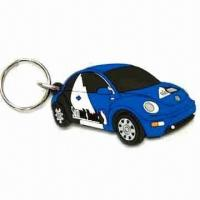 Buy cheap Car Shape Keychain, Made of Soft PVC, Customized Designs are Welcome, Measures 40 x 30 x 35cm product