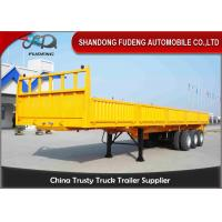 Buy cheap Stake Cargo Trailer And 3 Axles Side Wall Semi Trailer For Transport Bulk Cargo product