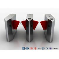 Buy cheap Access Control Flap Barrier Turnstile , Pedestrian Barrier Gate Infrared Sensors With IC/ID Card product
