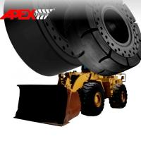 Buy cheap APEX 16.00-25 Solid Tire, Cushion Tyre for Wheel Loader, Integrated Tool Carrier, Elevating Motor Scraper product