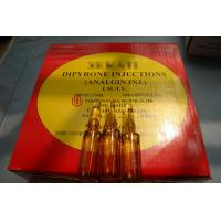 100 Ampoules / Box Metamizole Sodium Injection , Dipyrone Drug Analgin Injection For Pain Relief