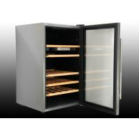 Buy quality 128L Single zone custom wine Cellar with wooden color outside steel at wholesale prices