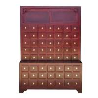 China Solid Wood Chinese Pharmacy Store Display Storage Cabinet Modular With Drawer on sale