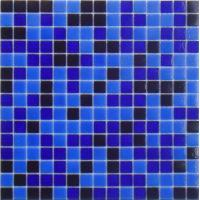China mixed blue glass tiles on sale