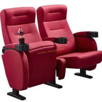 Buy cheap Fire Resistant Red Fabric Folding Movie Theater Chairs Tip Up By Gravity from wholesalers