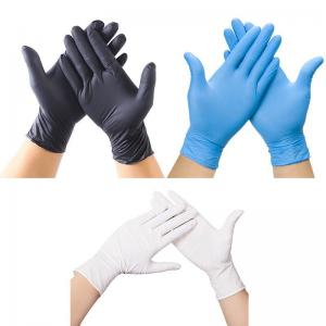Buy cheap Black Nitrile Disposable Gloves Powder Free Non Allergic For Adult product