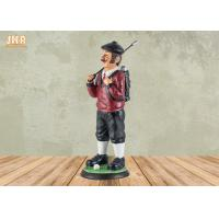 Buy cheap Small Golfer Tabletop Statue Polyresin Statue Figurine Antique Resin Sculpture Figures product