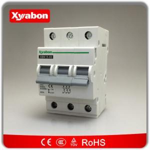 Triple pole mcb circuit breakers 400V~ 3 phase type C 10kA 6A - 63A Hager NC MC MW