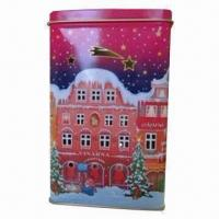 Buy cheap Candle can for Christmas, made of 0.21mm tinplate product
