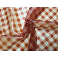Buy cheap Orange Printed Grid Pattern Faux Leather Fabric For Ladies Fashion Coat 0.15mm product